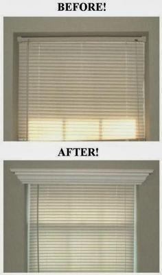 Room Crown Molding Over Window Blinds