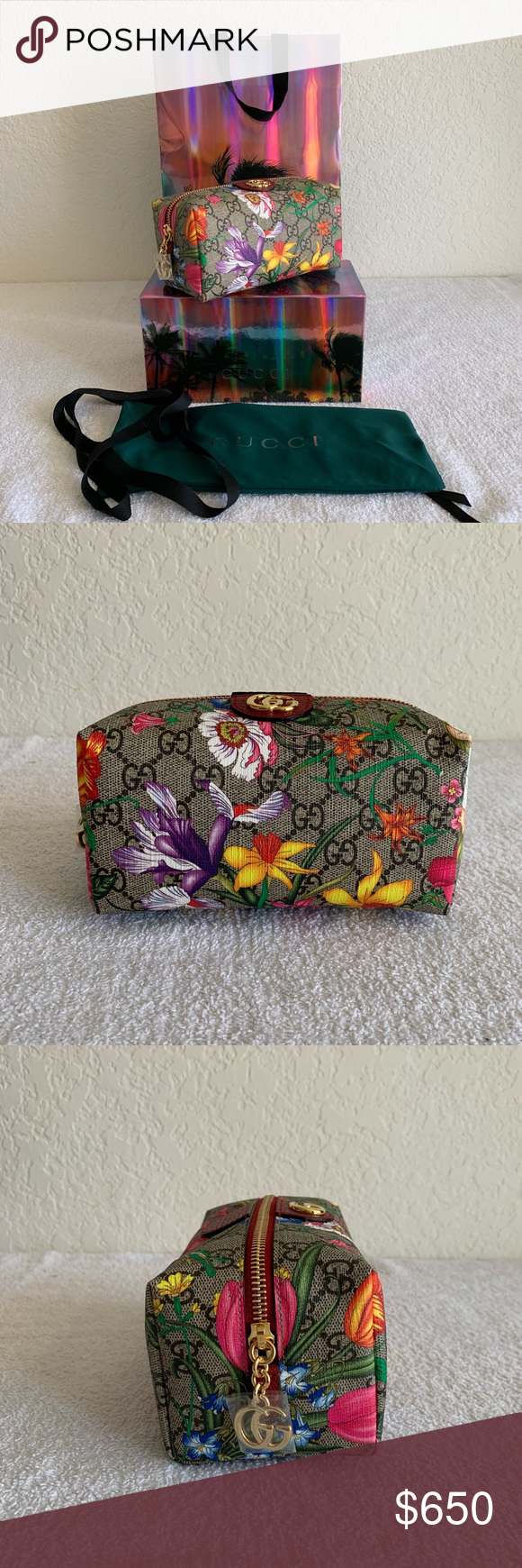 Gucci Ophidia GG Flora Cosmetics Case Brand NEW with tag