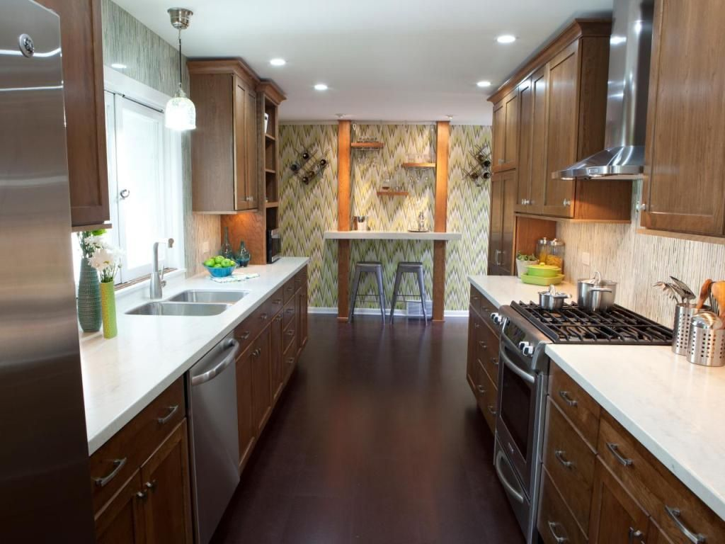 Small Galley Kitchen Design Pictures Ideas From Hgtv: Kitchen: Pleasing Galley Kitchen Backsplash Ideas And