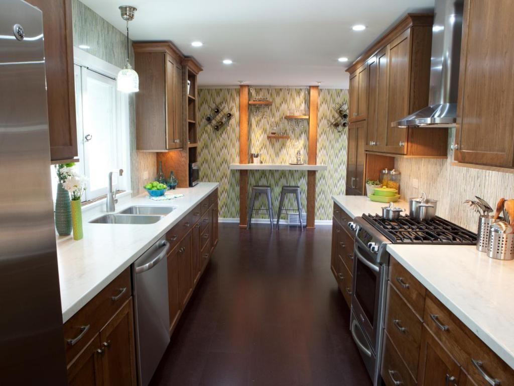 Kitchen Pleasing Galley Kitchen Backsplash Ideas And Galley Style