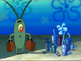 Jika sering menonton serial kartu SpongeBob plankton