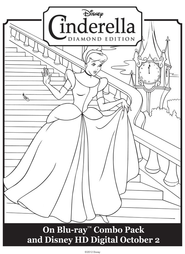 cinderella leaving the ball free printable coloring pages - Prince Coloring Pages 2