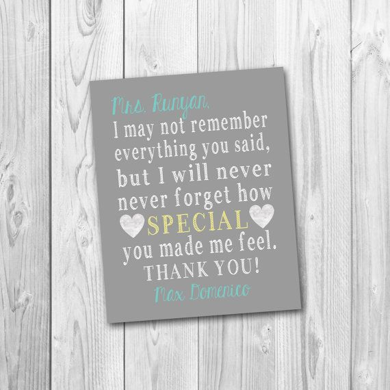 Teacher's appreciation gift, Teacher gift, end of school year gift