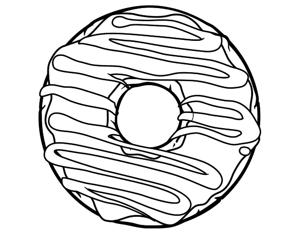 Pin By Syl Roca On Coloring Pages Donut Coloring Page Coloring Pages Donut Drawing
