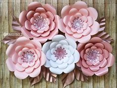 Paper flower backdrop pink paper flowers big paper flowers rose paper flower backdrop pink paper flowers big paper flowers rose gold decor mightylinksfo