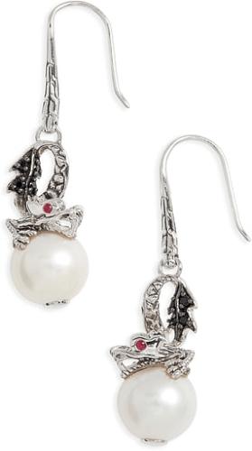 a2752763e Women's John Hardy 'Naga - Lava' Dragon & Pearl Drop Earrings #earrings  #jewelry