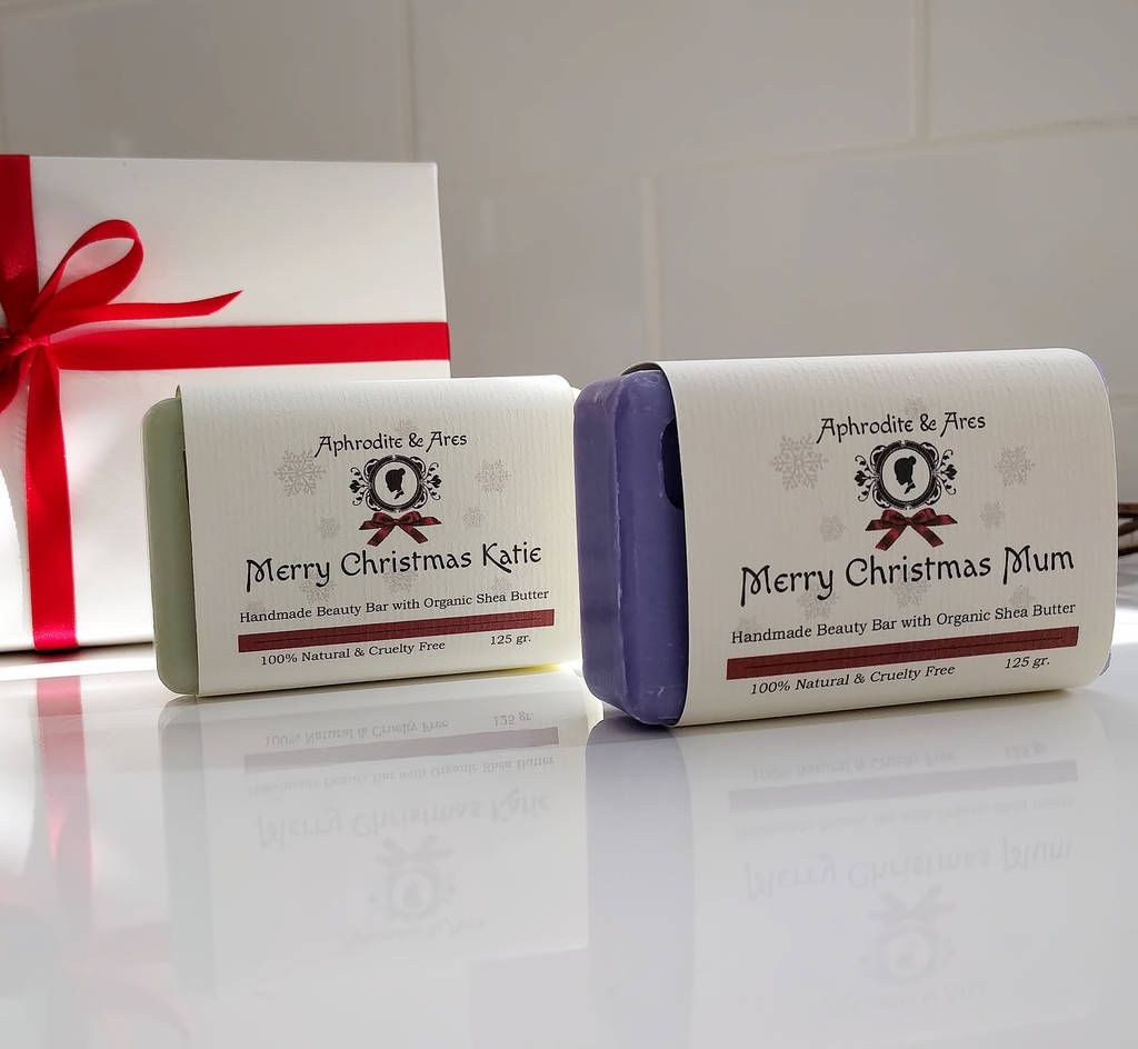 Personalised Organic Christmas Soap With Gift Box By Aphrodite