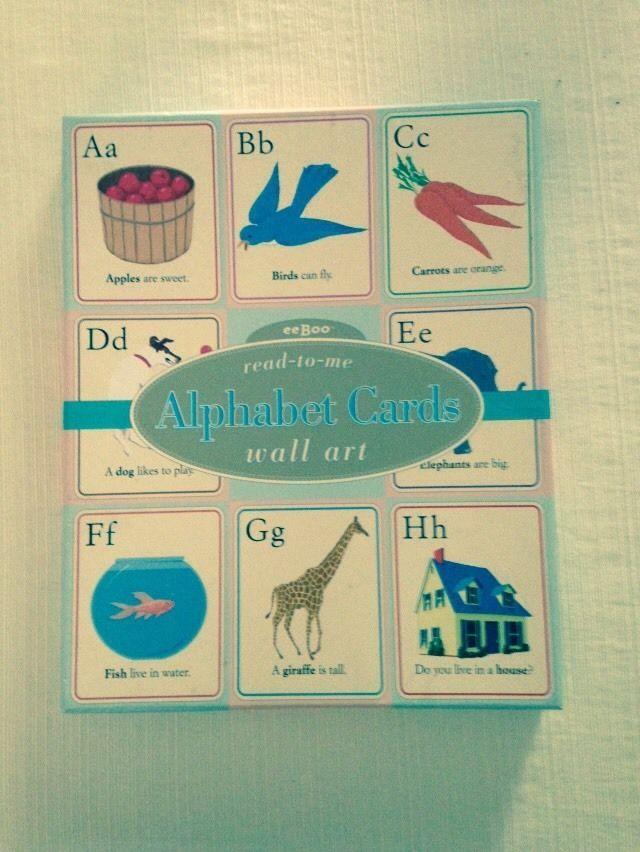 Nice Alphabet Cards Wall Art Contemporary - Wall Art Design ...