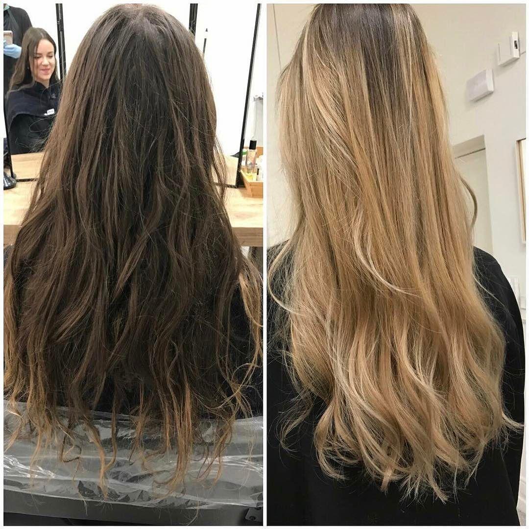 nouvelle réalisation | avant / après : blonde #nosrealisations