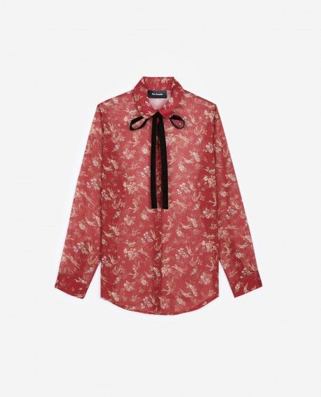 65a0592df9ac22 Birds of Paradise print shirt - THE KOOPLES