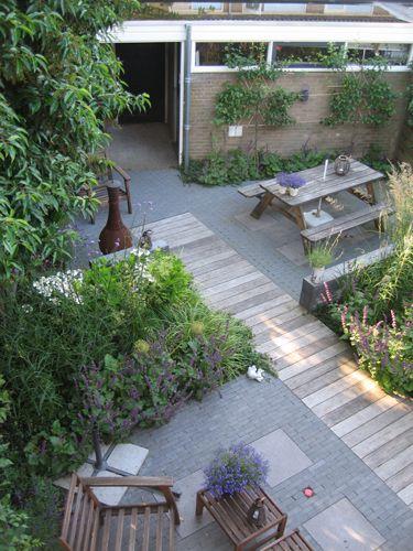 Achtertuin Tuin Vlonders Planken Inspiratie Tuin Ideeen