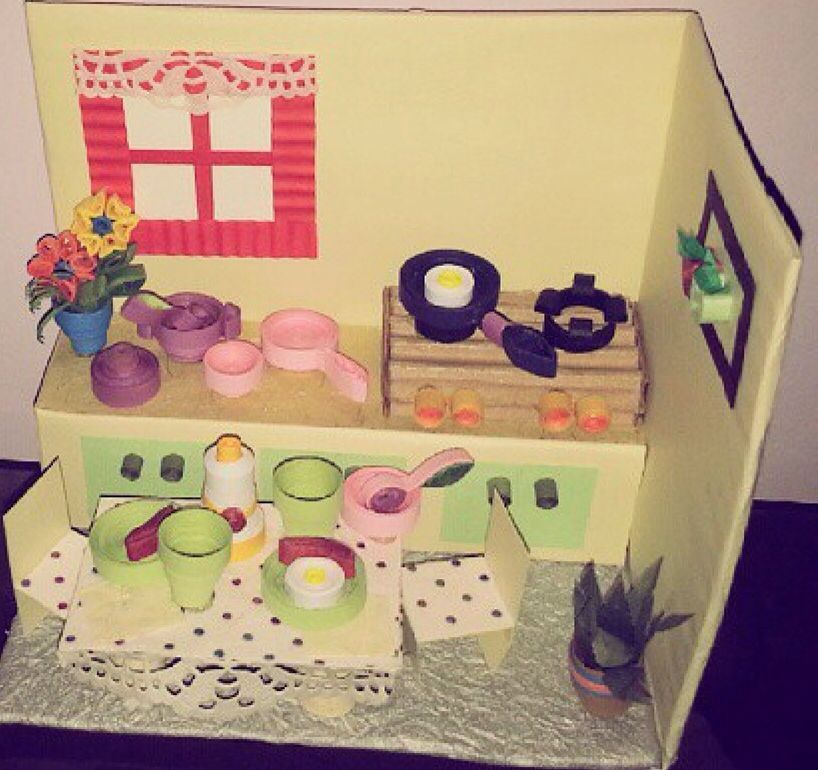 Kitchen Set Quilling: 3d Paper Quilling Kitchen...