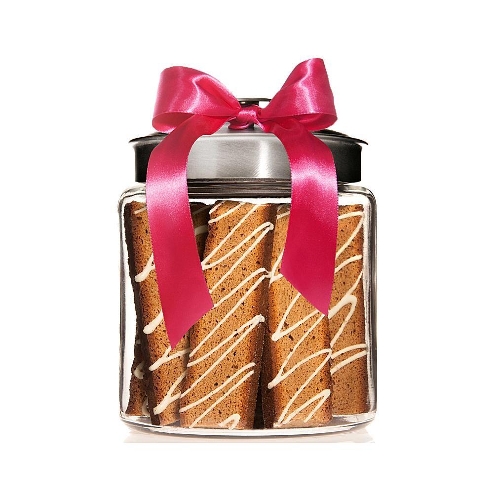 GIORGIO Cookie Company Giorgio Cookie Co. Vanilla Chai Biscotti in Jar - Nickel Color Lid