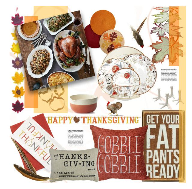 """""""Thanksgiving Ready"""" by stacey-lynne ❤ liked on Polyvore featuring interior, interiors, interior design, hogar, home decor, interior decorating, Sur La Table, Homewear, Harvest y Wedgwood"""