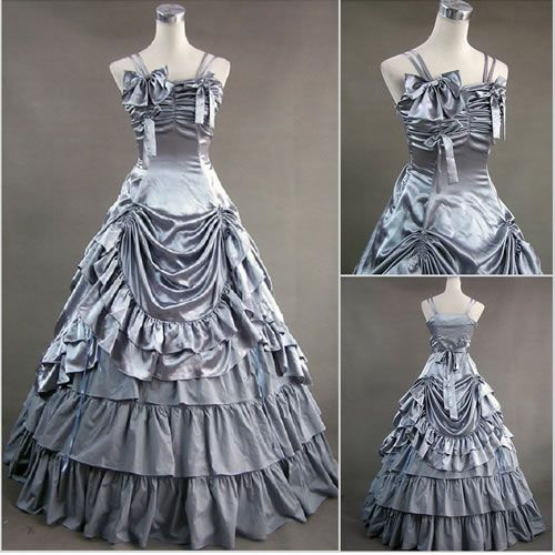 Silver Spaghetti Southern Belle Gothic Lolita Prom Wedding Dresses Ball  Gowns | goth lolita | Pinterest | Gothic lolita, Ball gowns and Southern  belle ...