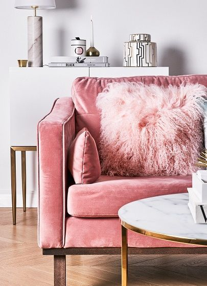 Pink velvet sofa. beautiful. impractical. | Lovely Comfy Sofa\'s ...