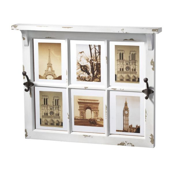 window pane picture frame with nice shelf and hooks | Window pane ...