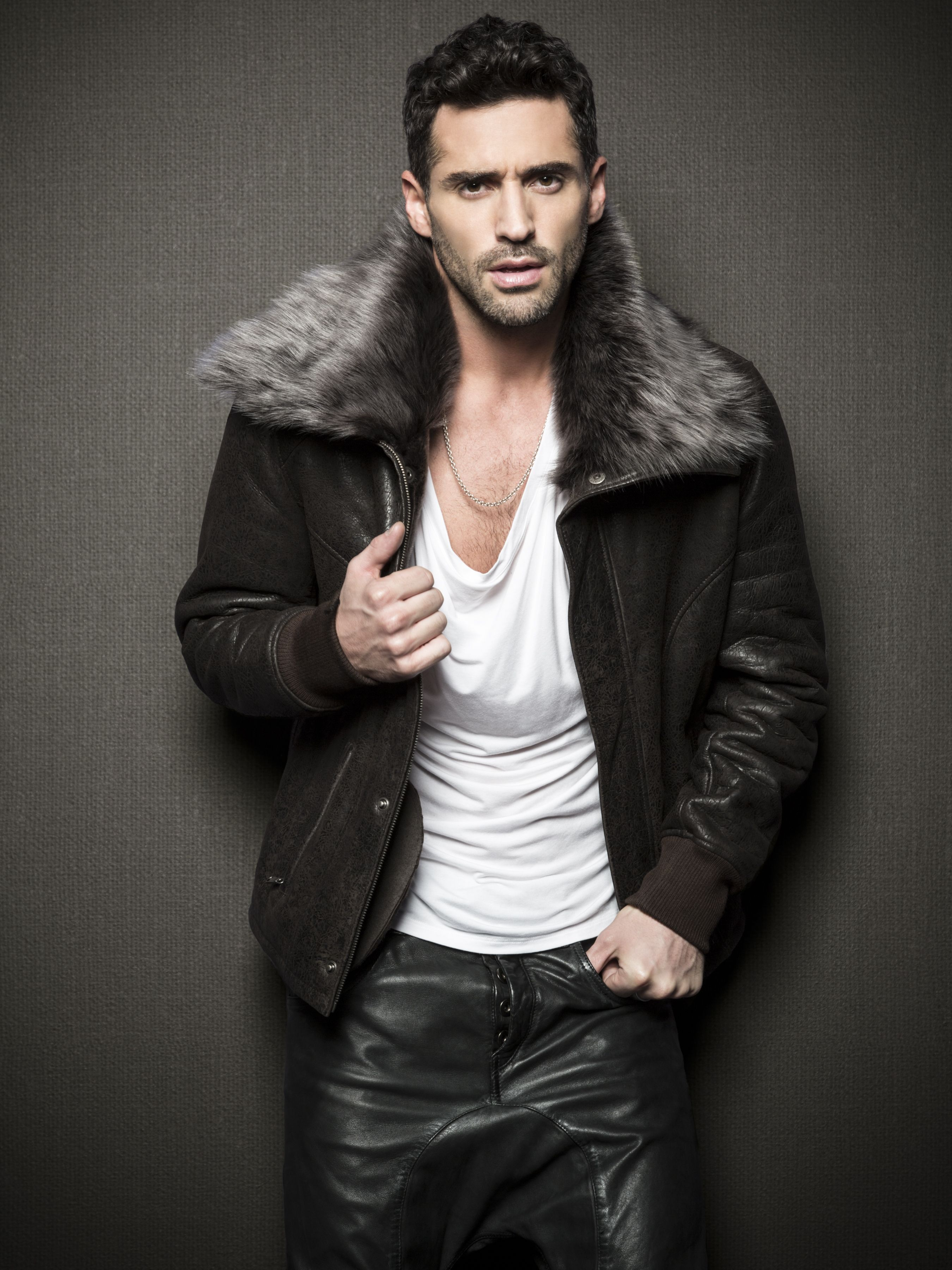 d71f0fd061ab7 by La Marque Collection #leather #coat #men #fall #winter #fw13 #bomber  #leatherpant #dropcrotch