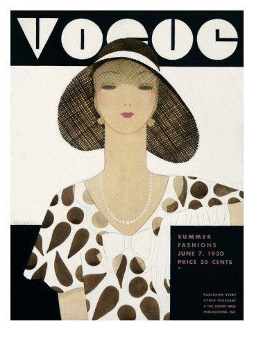 A Vintage Vogue Magazine Cover Of A Woman By Harriet Meserole Vogue Covers Vogue Magazine Covers Vintage Vogue