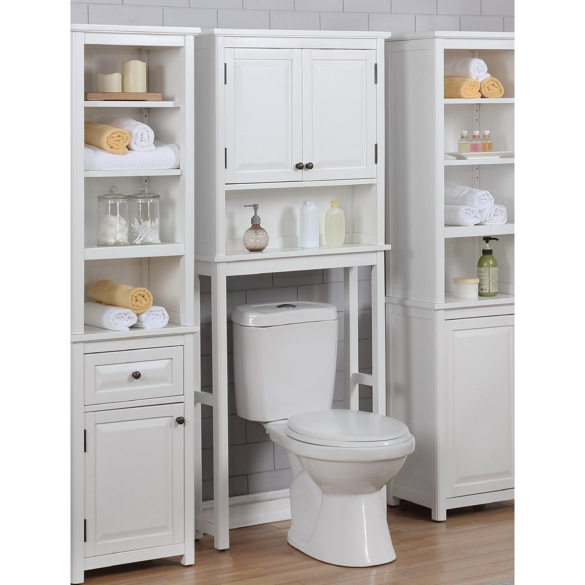 dorset over the toilet space saver storage with upper