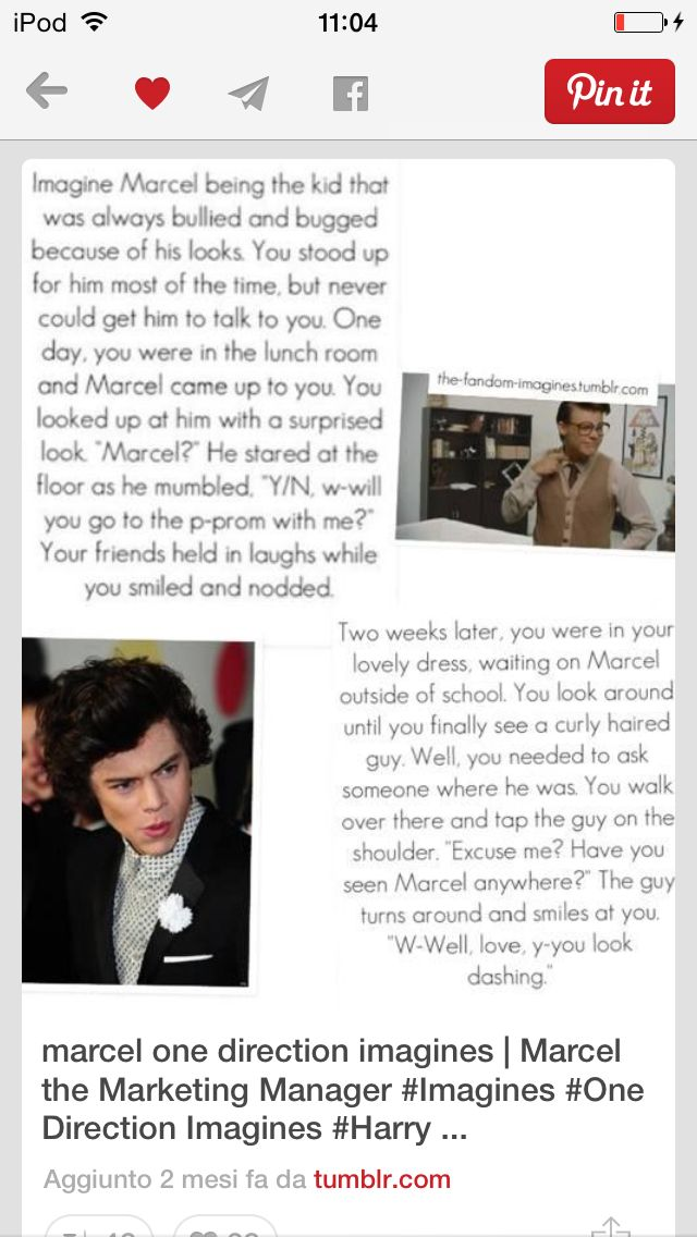 One Direction Imagines Cute