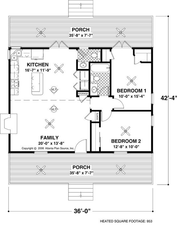 PERFECT CABIN MINUS KITCHEN BATH DO LARGE PANTRY INSTEAD