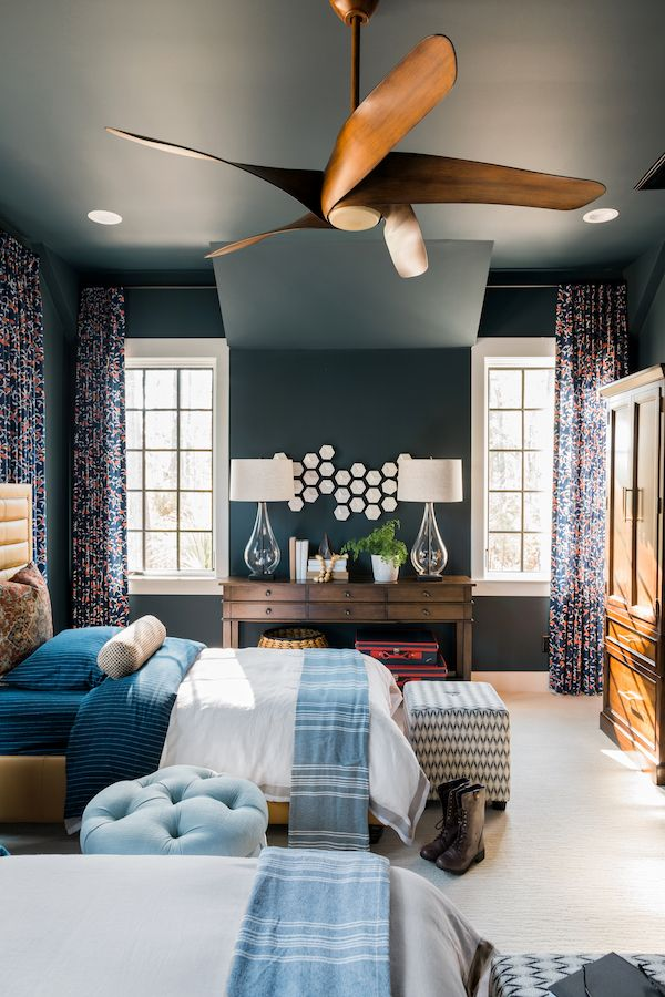Bold Fresh Colors Combined With Striking Patterns Create An Inviting And Youthful E This Stunning Bedroom In The Hgtv Smart Home 2018 Was Painted
