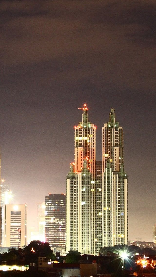 Jakarta By Night, Indonesia (With images) | Indonesia ...