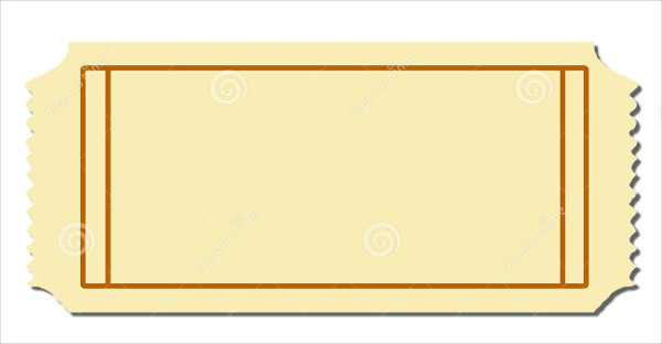 Blank Admission Ticket Template 1 Templates Example Templates Example Kreatif