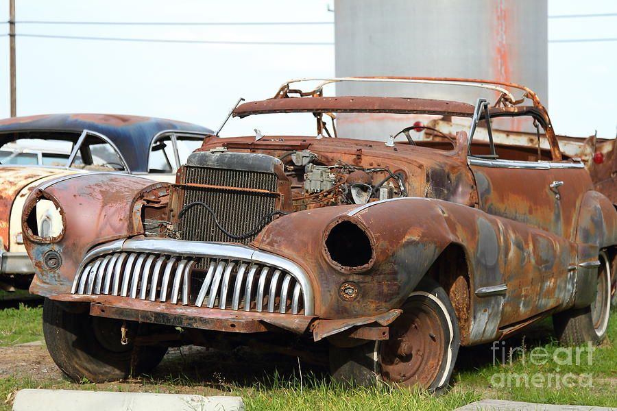 Rusty Old American Car . 7d10348 Canvas Print / Canvas Art by ...
