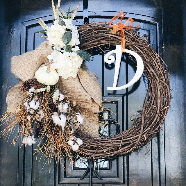 ON SALE - Personalized Rustic Wreath (Fall) by DunsonCreative on Etsy https://www.etsy.com/listing/494366311/on-sale-personalized-rustic-wreath-fall