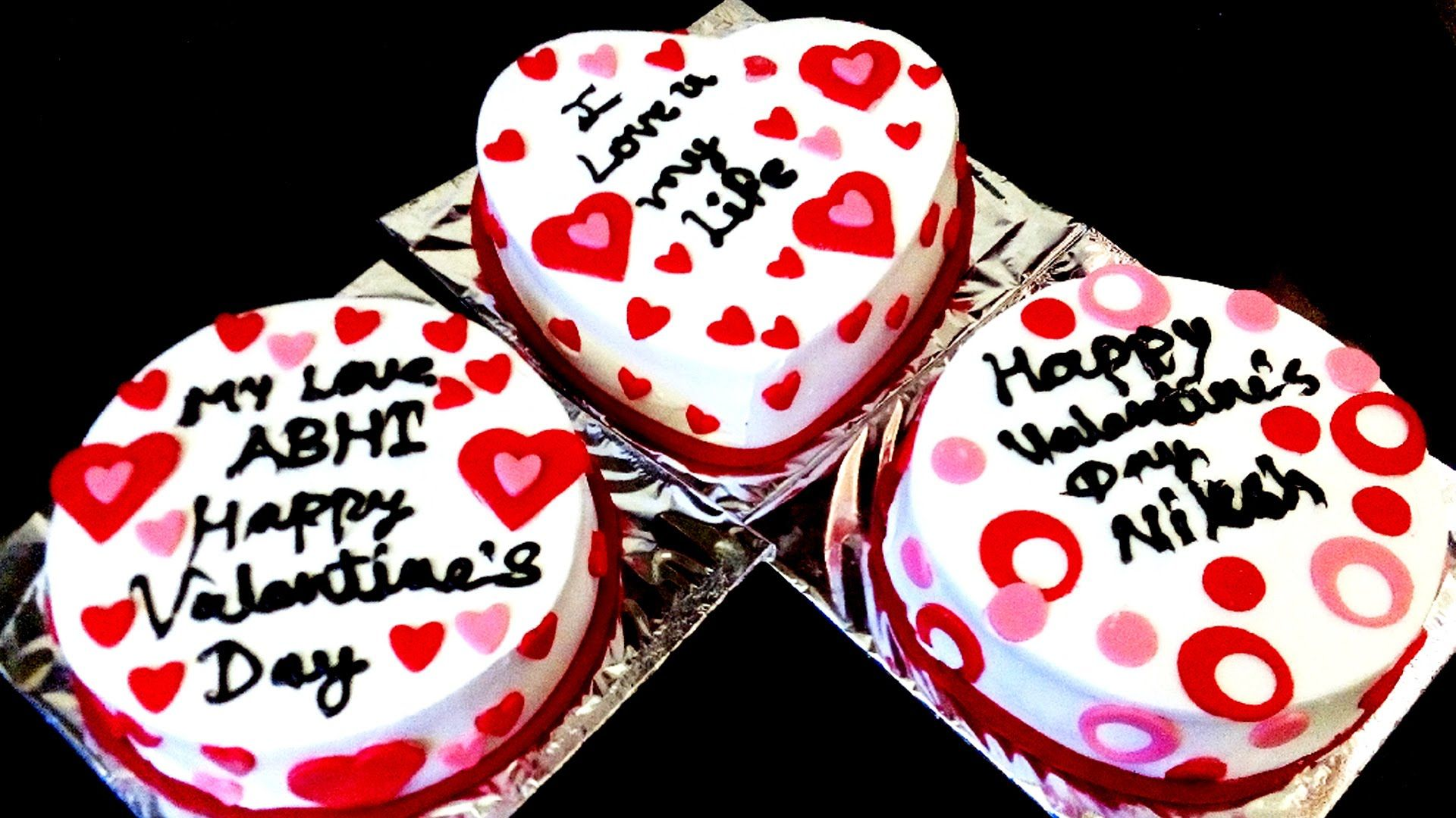 Simple Cake Decoration Valentine S Day Anniversary Cake Design In Hindi Anniversary Cake Designs Anniversary Cake Easy Cake