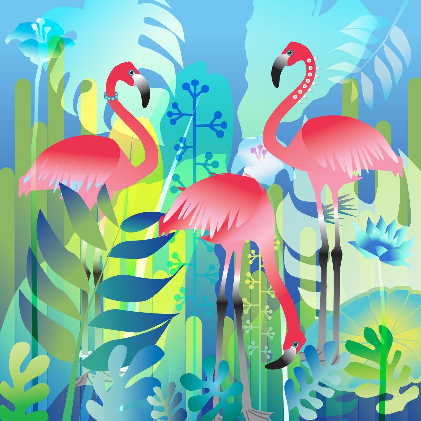 Pink Flamingo Canvas Art For Kids Kids Room Wall Art Nursery Print Canvas Print Nursery Decor Kids Room Poste Flamingo Art Printable Art Kids Room Poster