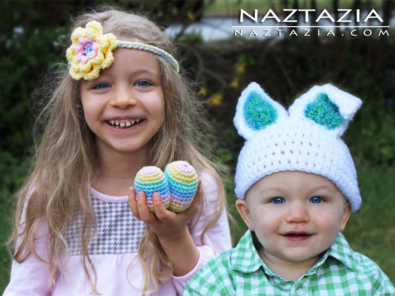 Crochet Spring / Easter Accessories for Kids - Naztazia