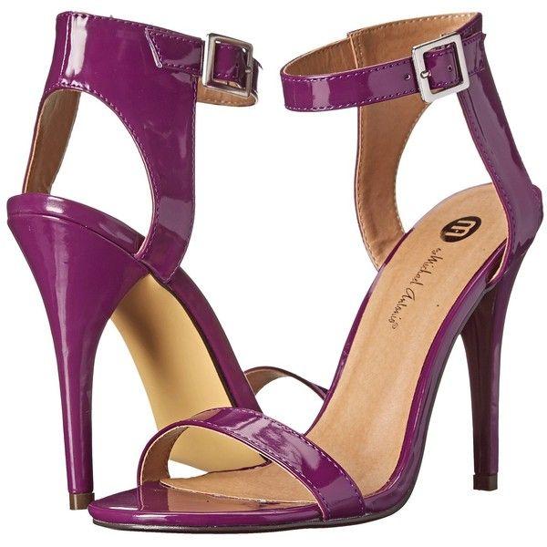 Michael Antonio Jarrod Women's Dress Sandals, Purple ($30) ❤ liked on  Polyvore featuring