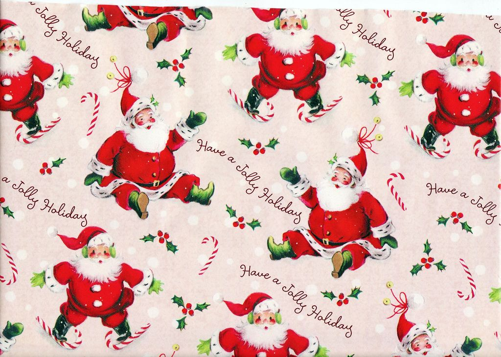Jolly Holidays Vintage Christmas Wrapping Paper Vintage Christmas Images Christmas Ephemera