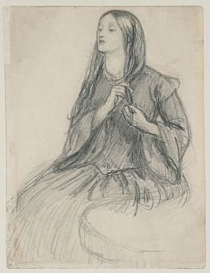 Elizabeth Siddal 1860 Dante Gabriel Rossetti