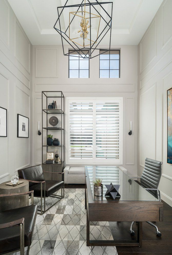 Charmant 18 Superb Transitional Home Office Designs Youll Want To Work In