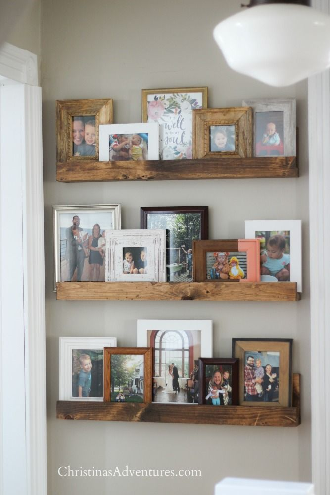 Easy diy picture ledge bedroom pictureshome decor also best wall art ideas images in house decorations rh pinterest