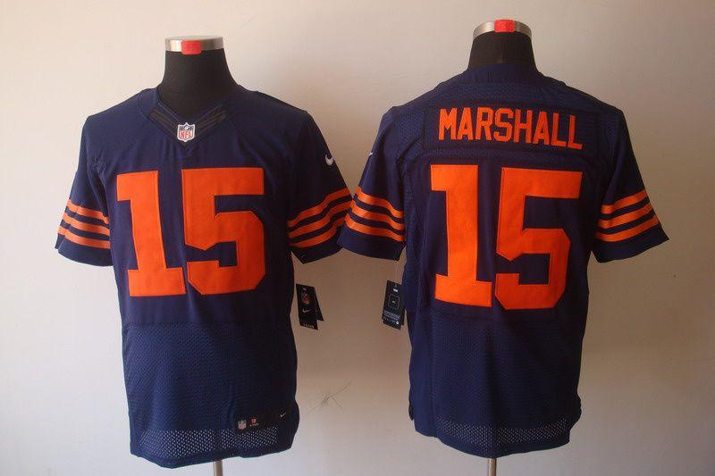 nike chicago bears 15 brandon marshall blue elite jersey