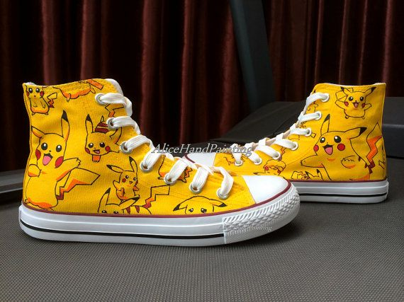 44c674fec040 Custom Yellow Converse Hand Painted Shoes Custom Anime Converse ...