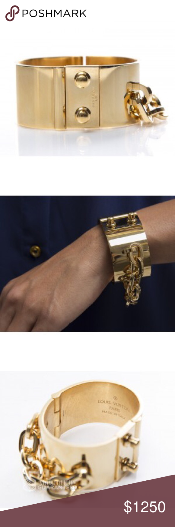 Louis vuitton gold lock me manchette bracelet pinterest