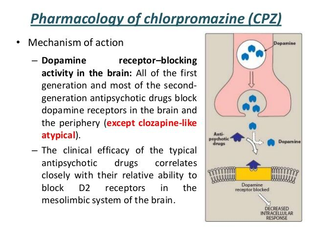 Pharmacology of chlorpromazine (CPZ) • Mechanism of action