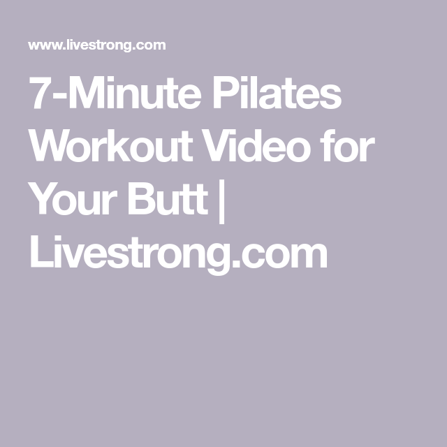 7-Minute Booty-Building Pilates Workout With Cassey Ho   Livestrong.com #pilatesworkoutvideos