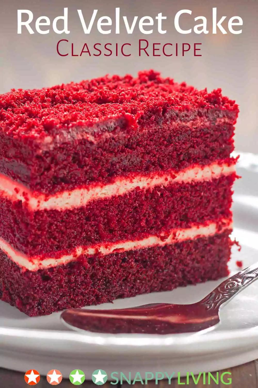 My Favorite Red Velvet Cake Recipe Snappy Living Recipe Velvet Cake Recipes Cake Recipes Easy Homemade Red Velvet Cake Recipe