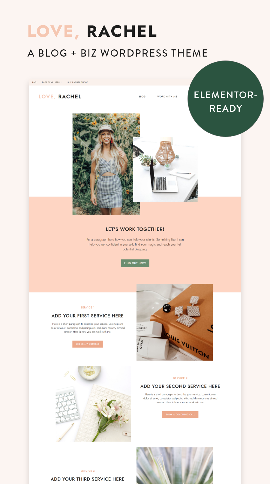 Rachel WordPress Theme - Blog & Biz Theme with Ready-to-Use Elementor Templates | My Boutique Themes