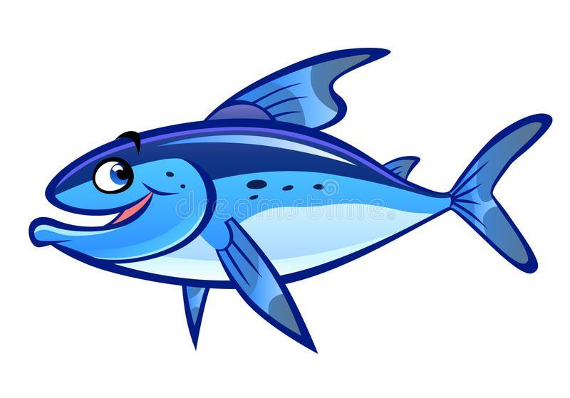 Cartoon Fish Blue Cartoon Laughing Fish Isolated On White Ad Blue Fish Cartoon Cartoon White Ad Cartoon Fish Fish Vector Illustration
