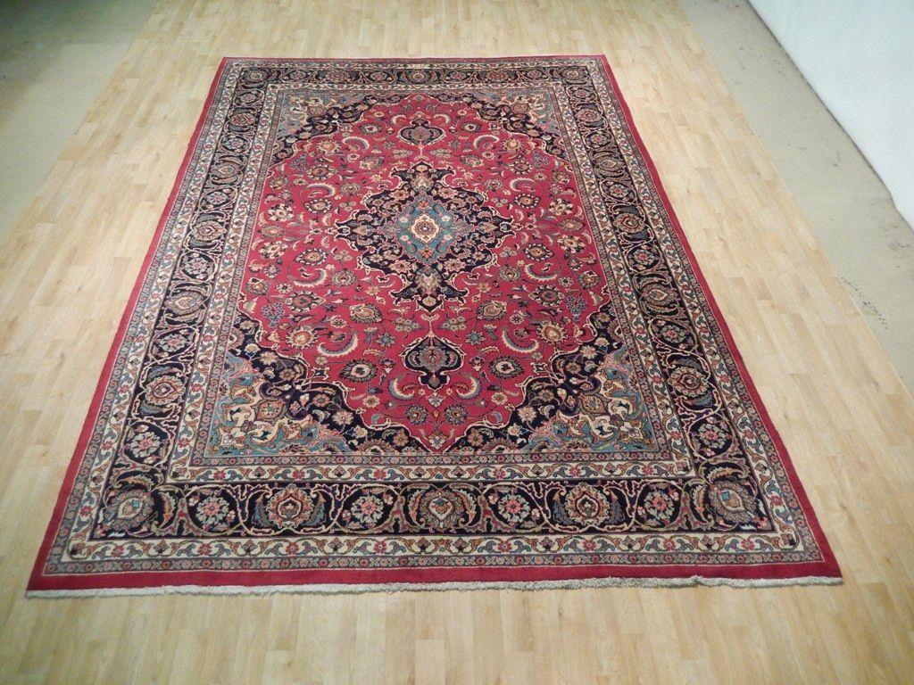 MASTER WEAVER'S SIGNATURE 8 x 11 Original Persian Kashan Carpet