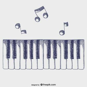 Vector Teclas De Piano En 2019 Teclas De Piano Arte Del