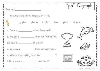 Digraph Ph Phonics Word Work Multiple Phonograms Phonics Words Digraph Phonics